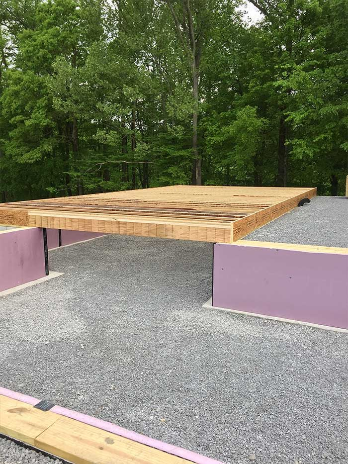 Framing-on-top-of-foundation-on-large-lot